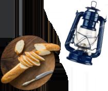 パンとランプ
